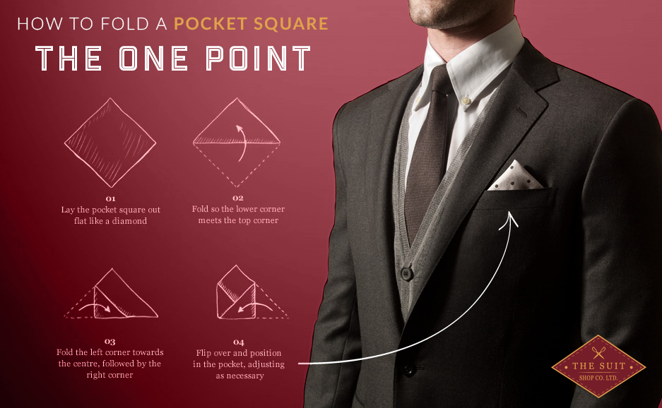How to Fold a Pocket Square: The One Point