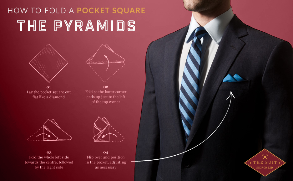 How to Fold a Pocket Square: The Pyaramids
