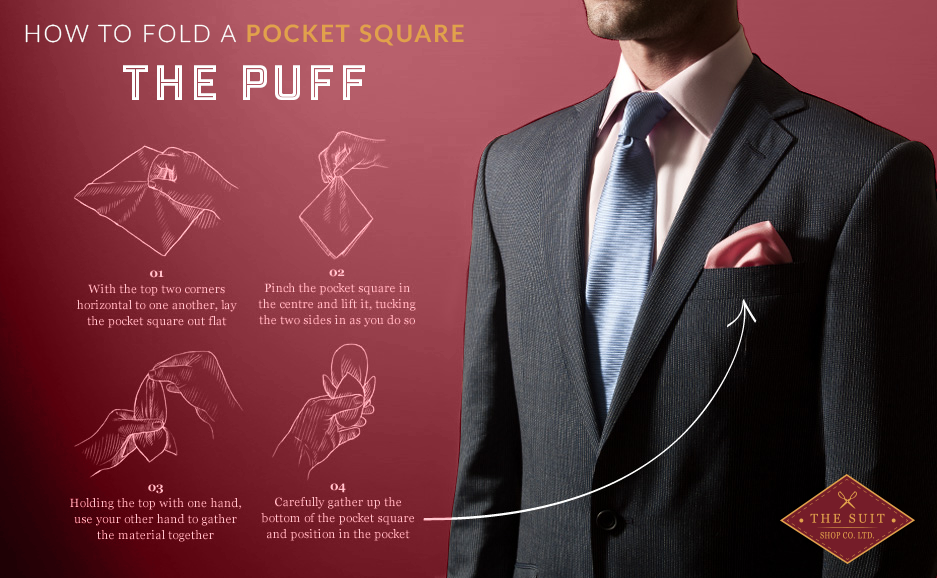 How to Fold a Pocket Square: The Puff